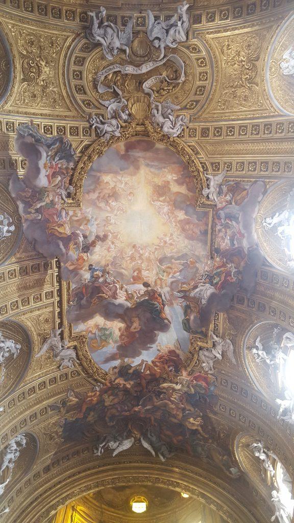 Церковь Иль-Джезу, потолочные фрески Гаулли