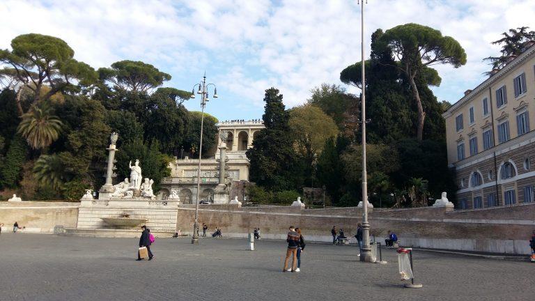 Фонтан «Римская богиня», терраса Наполеона и смотровая площадка.