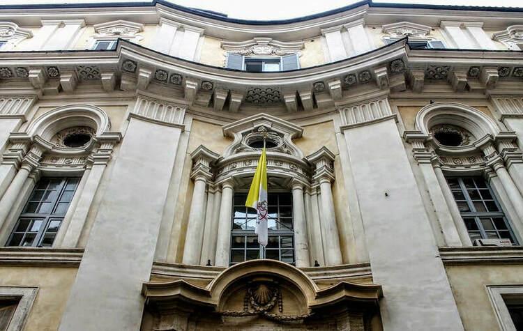 Side Facade of Palazzo di Propaganda Fide