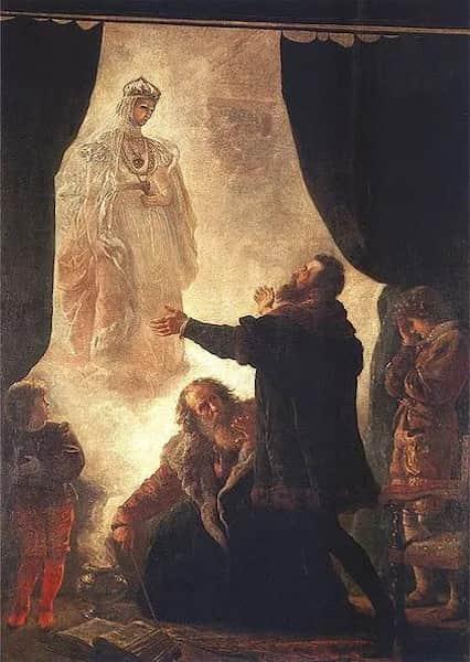 Картина Дух Барбары Радзивилл в Вильнюсе